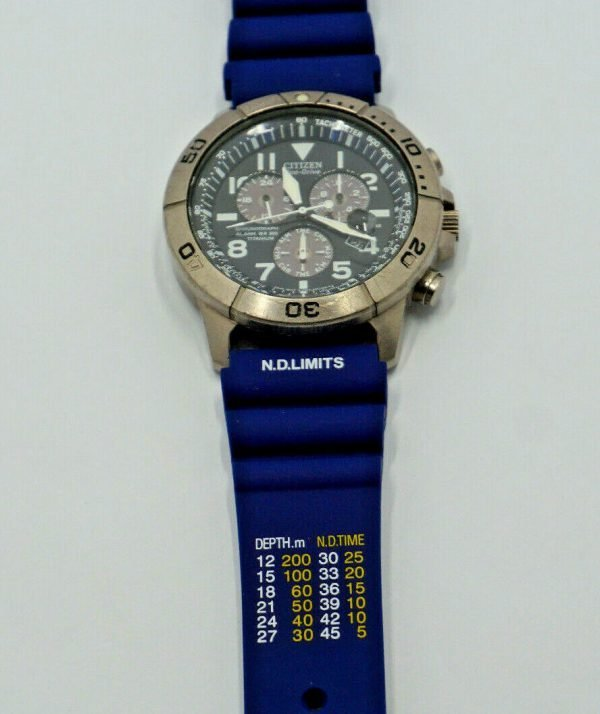Citizen ND Limits dive watch strap in BLUE