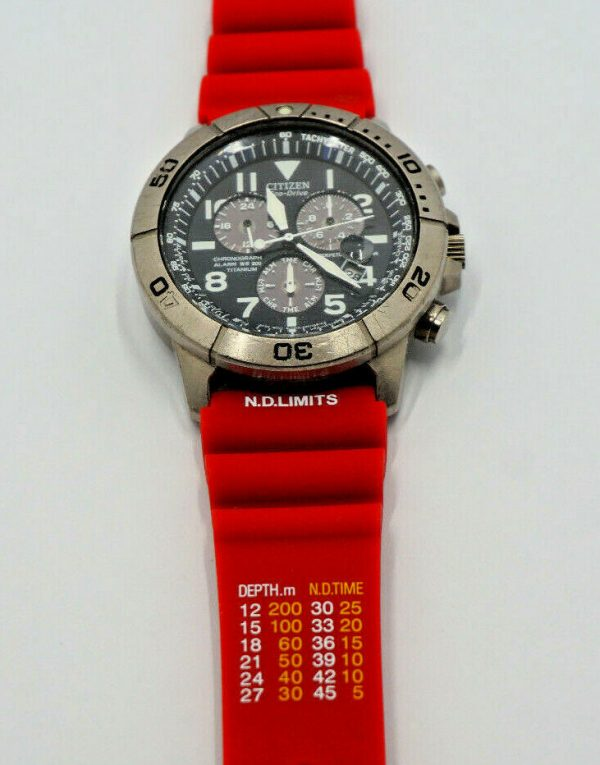 Citizen ND Limits Dive watch strap in RED
