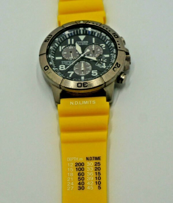 Citizen ND Limits Dive watch strap in YELLOW